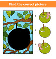 find correct picture game for children worm vector image vector image