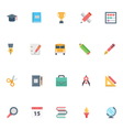 Flat Education Icons 1 vector image