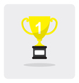 flat icon golden trophy cup vector image