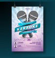 flyer on a karaoke party theme vector image