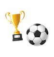football cup award soccer sport flat icons vector image vector image