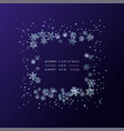 frame of crystal snowflakes vector image vector image