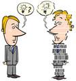 frustrated businessman cartoon vector image vector image
