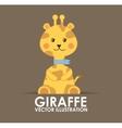 giraffe cute vector image vector image