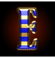 golden and blue letter e vector image vector image