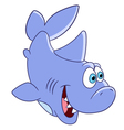 happy cartoon shark vector image vector image