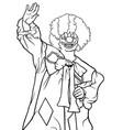 happy clown waving vector image vector image