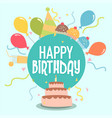icon for happy birthday vector image