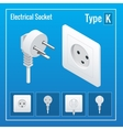 Isometric Switches and sockets set Type K AC vector image vector image