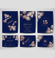 Luxury wedding save the date invitation cards