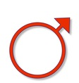 Masculine Sign vector image vector image