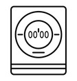 modern digital timer icon outline style vector image vector image