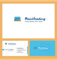 online shopping logo design with tagline front vector image vector image
