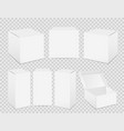 paper boxes realistic tall white cardboard vector image