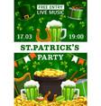 patricks day green party irish holiday shamrock vector image vector image