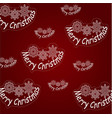 pattern from the inscription merry christmas and vector image vector image