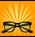 pop art object for sight sunglasses glasses vector image