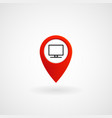 red location icon for computer center eps file vector image vector image