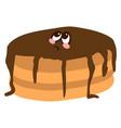 sad pancake on white background vector image vector image