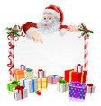 santa christmas gifts sign vector image