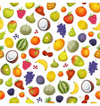 seamless fruit icons background vector image