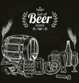 set of beer icons vector image vector image