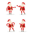 set of santa clauses in different pose icon vector image vector image