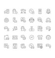 set simple icons carsharing vector image vector image