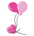 shades three pink-colored balloons of vector image vector image