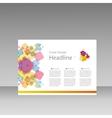 Squares pattern design templatr for presentation vector image vector image