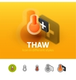Thaw icon in different style vector image vector image