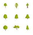 timber icons set cartoon style vector image