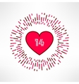 valentines heart on tribal outburst vector image vector image