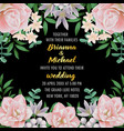 wedding invitation with flowers and greenery vector image vector image