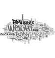 what s your body mass index text word cloud vector image vector image