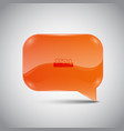 abstract glossy speech bubble vector image