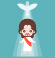 jesus christ with holy spirit vector image