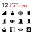 12 exit icons vector image vector image