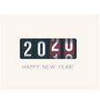 2020 new year analog counter display retro style vector image vector image