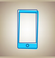 abstract style modern gadget with blank screen vector image vector image