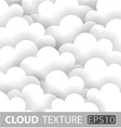 Abstract White Cloud Paper Background vector image vector image