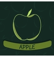 Apple Flavour Seal on Green Seamless Background vector image vector image