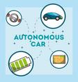 autonomous car concept vector image