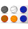basketball ball - set vector image