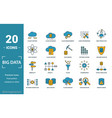 big data icon set include creative elements cloud vector image vector image