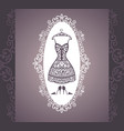 bride dress vector image