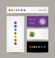 business cards design seven main chakras vector image