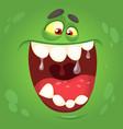 cartoon halloween monster face vector image vector image