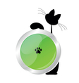 cat button vector image