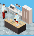 chef profession isometric composition vector image vector image